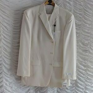 Men's Calvin Klein Off White Wool Suit